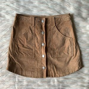 BLANKNYC Suede Button Front Skirt